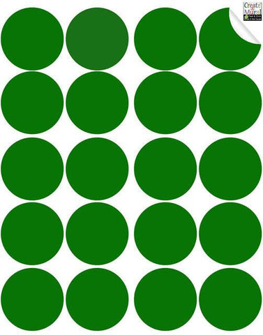 Green Wall Dot Decal - Create-A-Mural