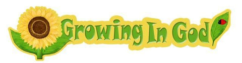 Growing In God Mural Banner Large Decal