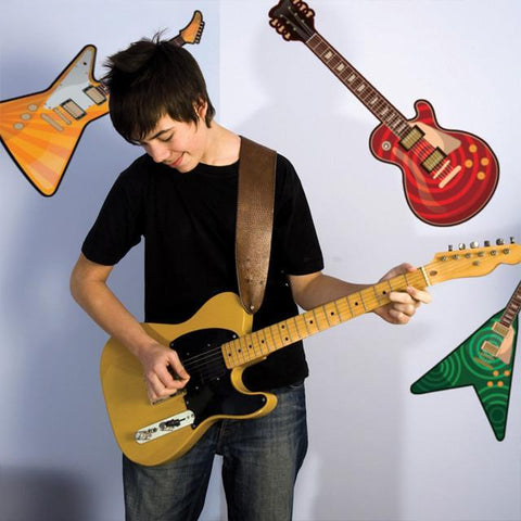 Guitar Mural - Kids Room Mural Wall Decals