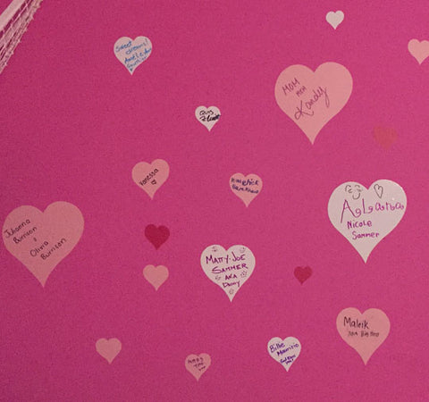 Heart Wall Decals - Kids Room Mural Wall Decals