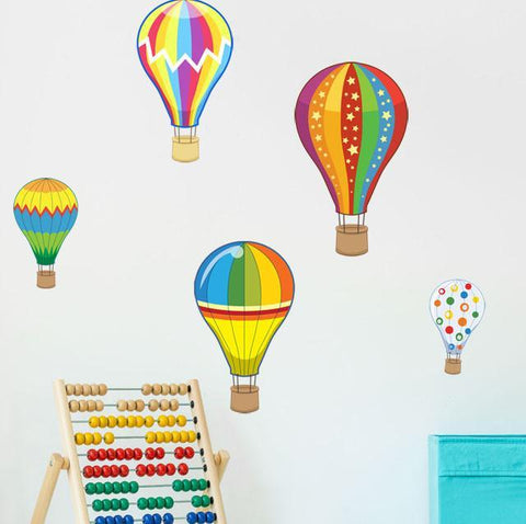 Hot Air Balloon Wall Decals - Kids Room Mural Wall Decals