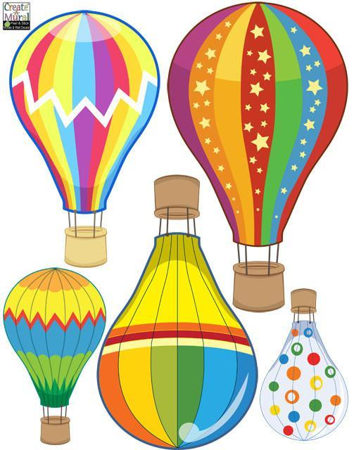 Super Cute Hot Air Balloons Wall Decals for Kids Room Walls