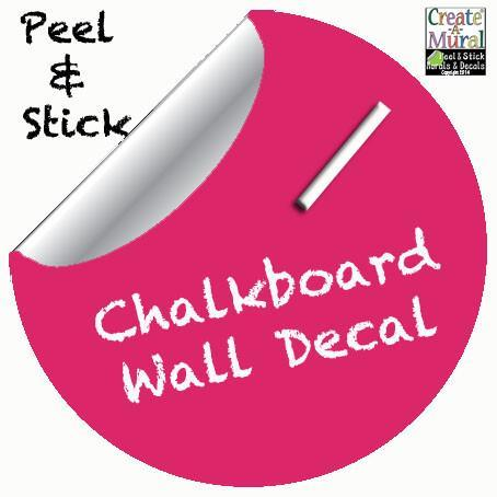 Chalkboard Dot Decal (Hot Pink) - Kids Room Mural Wall Decals