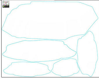 Iceberg Wall Decals - Kids Room Mural Wall Decals