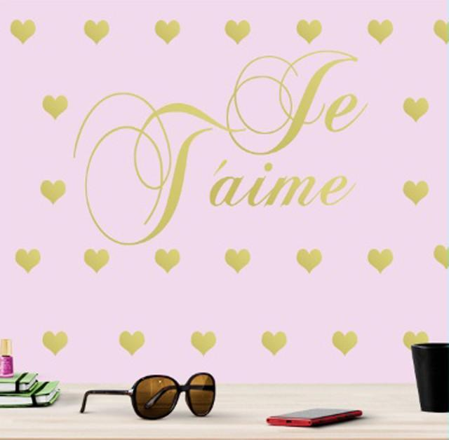 Je T'aime Hearts Wall Decals