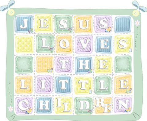 Jesus Loves the Little Children Quilt Mural - Create-A-Mural