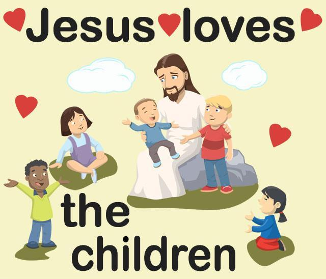 Jesus Loves The Children Wall Decals For Church Room Decor