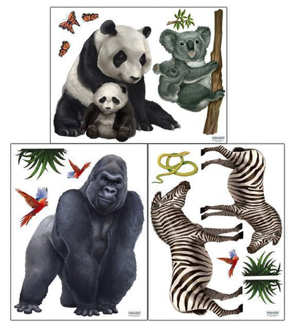 Jungle Animal Kids Decor Stickers 2 - Kids Room Mural Wall Decals