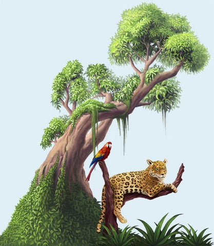 Jungles Adventures Mural Kit- Small - Kids Room Mural Wall Decals