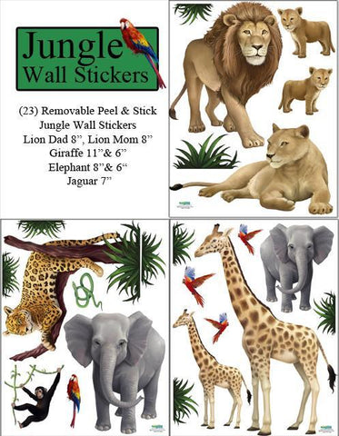 Jungle Animal Kids Wall Stickers - Create-A-Mural