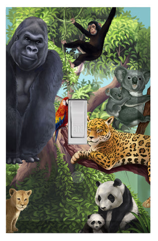 Jungle Animal Kids Room Light Switch Cover