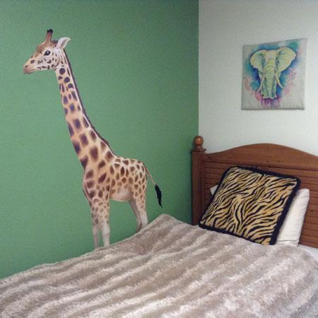 Giraffe Mural - Kids Room Mural Wall Decals