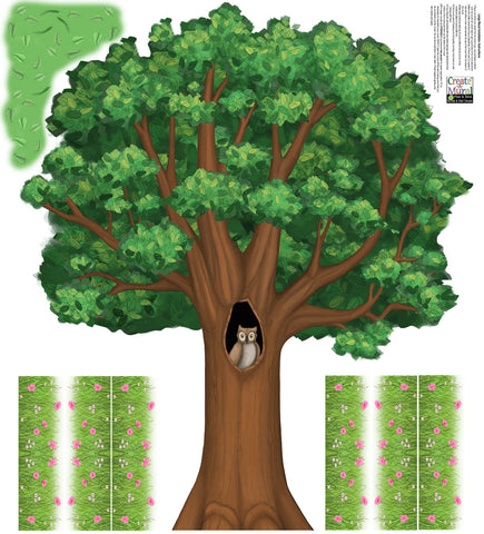 Tree Mural 5' - Kids Room Mural Wall Decals
