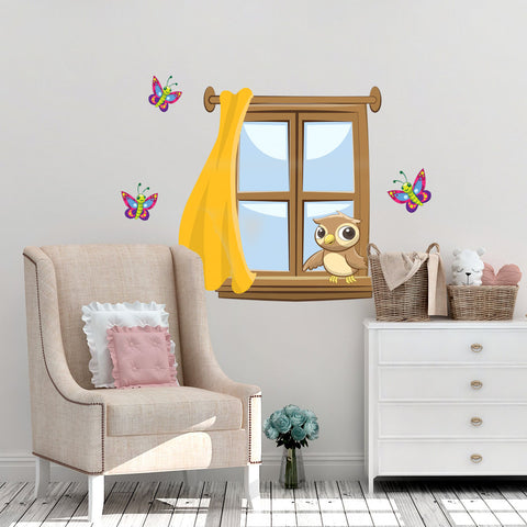 Kids Window Mural - Kids Room Mural Wall Decals