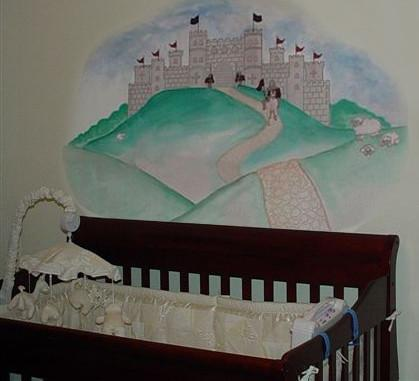 Knight Castle Mural - Kids Room Mural Wall Decals