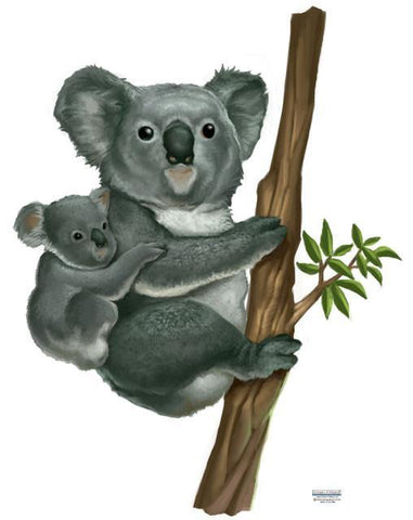 Koala Bear Mural - Kids Room Mural Wall Decals