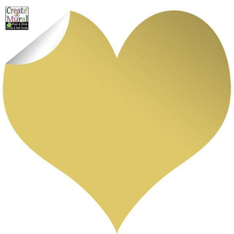 Gold Heart Wall Decal - Kids Room Mural Wall Decals