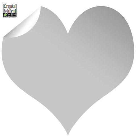 Shinny Silver Heart Wall Decal