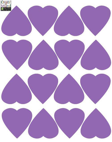 Heart Wall Decals -Lavender - Kids Room Mural Wall Decals