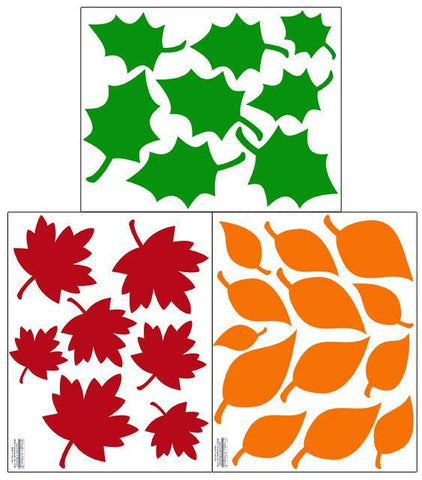 Leaves Wall Decals ~Fall & Autumn Vinyl Seasonal Decor - Create-A-Mural