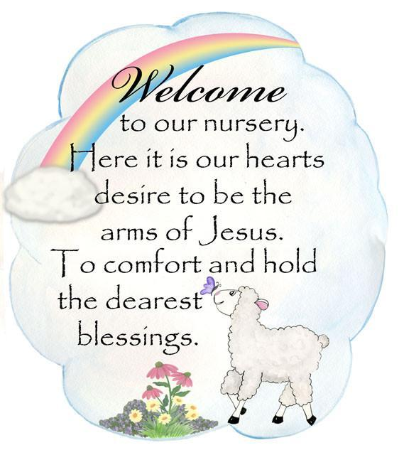 Little Lamb Nursery Welcome Decal