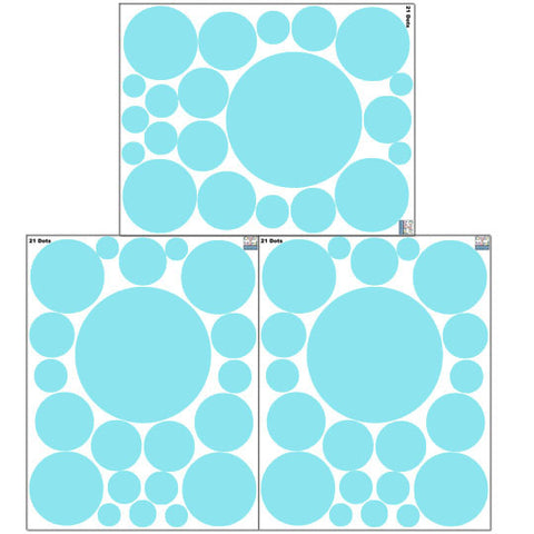 Soft Teal Polka Dot Wall Decals