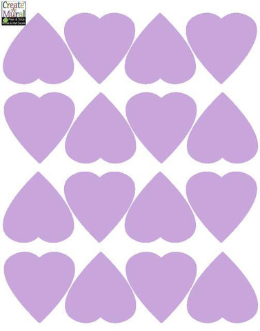 Heart Wall Decals -Lilac - Kids Room Mural Wall Decals