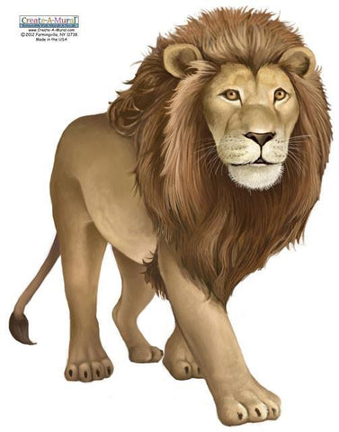 Lion Wall Mural - Kids Room Mural Wall Decals