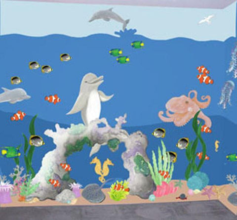 Magical Undersea Mural Kit- Small - Kids Room Mural Wall Decals