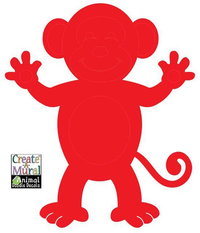 Monkey Doodle Dry Erase Wall Decal - Create-A-Mural