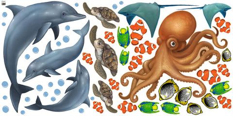 More Undersea Ocean Kids Room Mural - Create-A-Mural