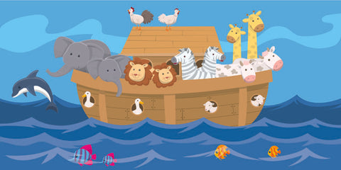 Noah's Ark Water Kids Church Wallpaper Mural - Kids Room Mural Wall Decals