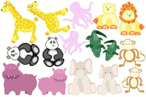 Noah's Ark Baby Mural Animals - Create-A-Mural
