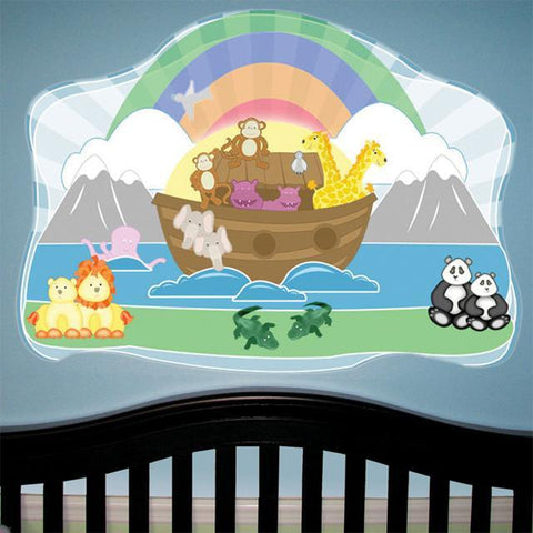 Noahs Ark Baby Mural - Kids Room Mural Wall Decals