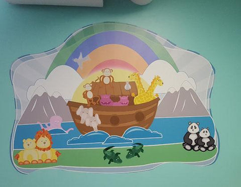 Noah's Ark Mural Kit - Kids Room Mural Wall Decals