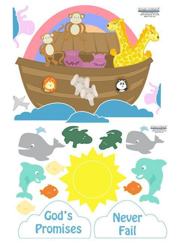 Noahs Ark Wall Decals - Kids Room Mural Wall Decals