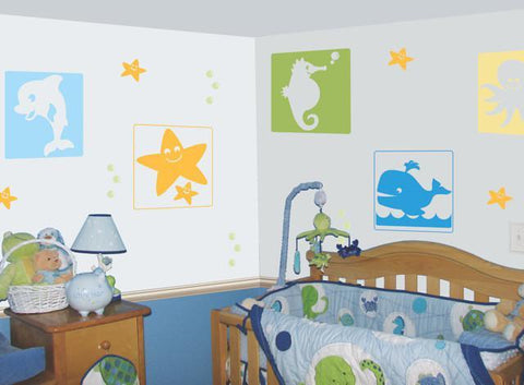 Baby Boys Ocean Wall Decals - Kids Room Mural Wall Decals