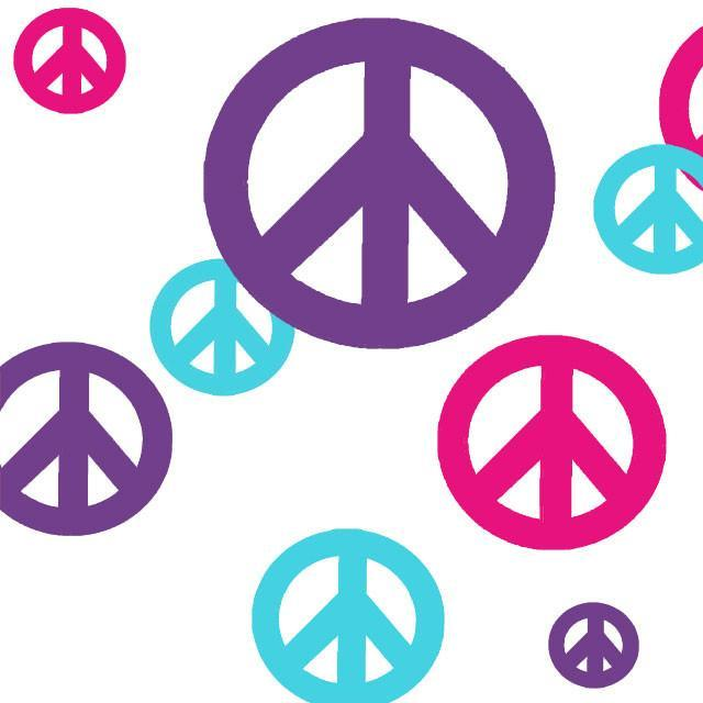 Peace Sign Bedroom Accessories: Peace Sign Wall Decals To Design A Peace Sign Theme
