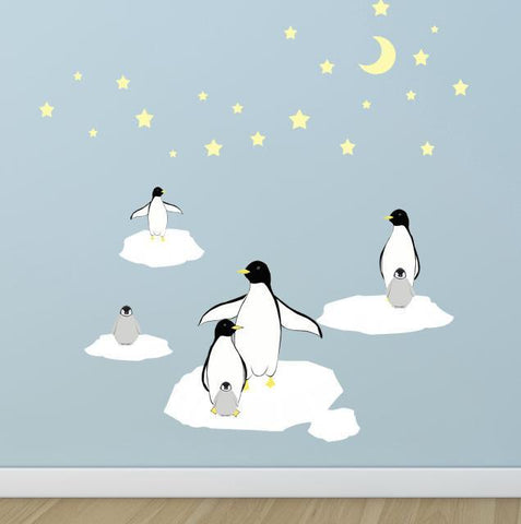 Penguin Room Wall Decals - Kids Room Mural Wall Decals