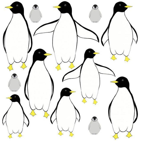 Penguin Mural Wall Stickers - Kids Room Mural Wall Decals