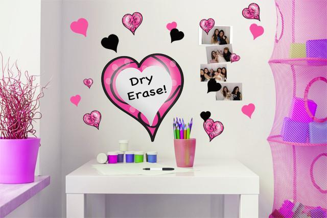 Girls Dry Erase Wall Decals ...