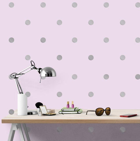 Silver Wall Dot Decals