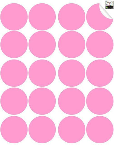 Pink Wall Dot Decals