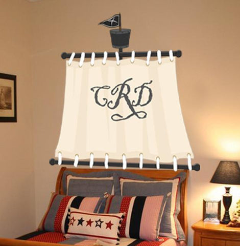 Pirate Sail Mural- Custom - Kids Room Mural Wall Decals