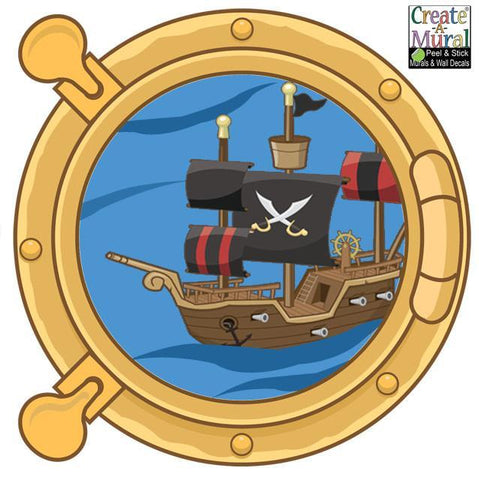 Pirate Port Hole Decal 1 - Kids Room Mural Wall Decals