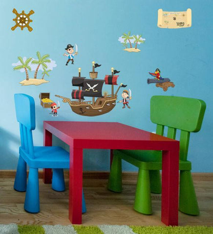 Pirate Wall Decals , Boys Wall Stickers - Create-A-Mural