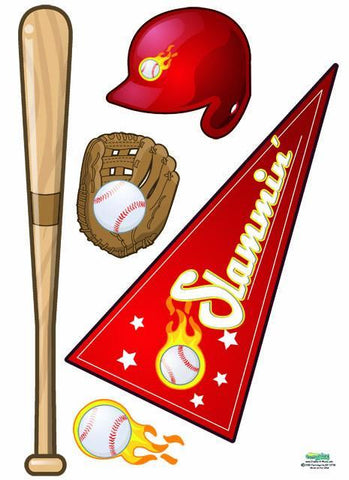 Play Baseball Wall Decals - Kids Room Mural Wall Decals