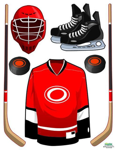 Play Hockey Wall Decals - Create-A-Mural
