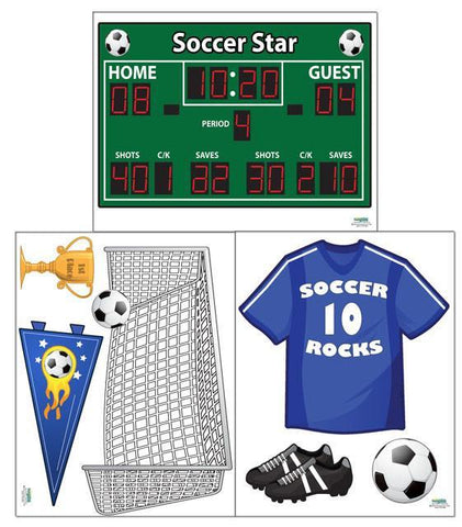 Play Soccer Wall Decals - Kids Room Mural Wall Decals