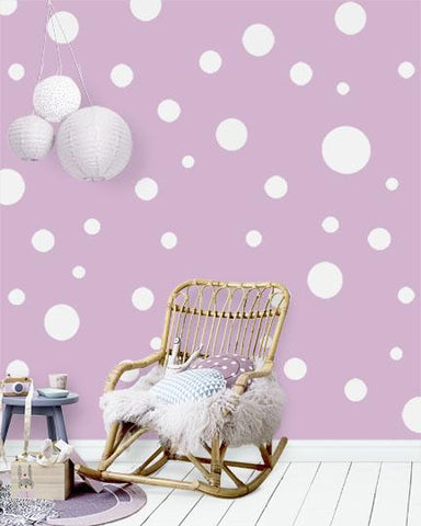 Polka Dot Wall Decals (63) White Wall Dot Decals - Kids Room Mural Wall Decals